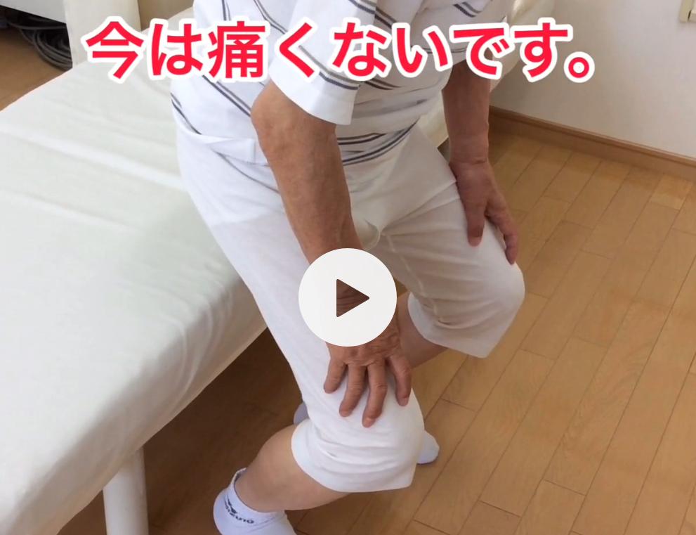 福井県福井市の治療院ひまわりで膝治療を受けた患者さんの写真
