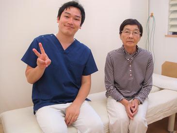 五十肩の患者様-坂井市春江町ひまわり整骨院