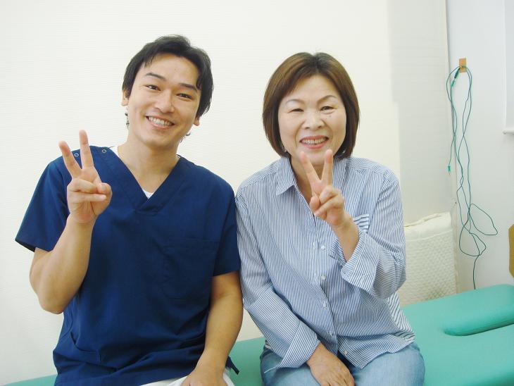 坂井市春江町ひまわり整骨院で腰痛ヘルニアの施術を受けた患者様の写真