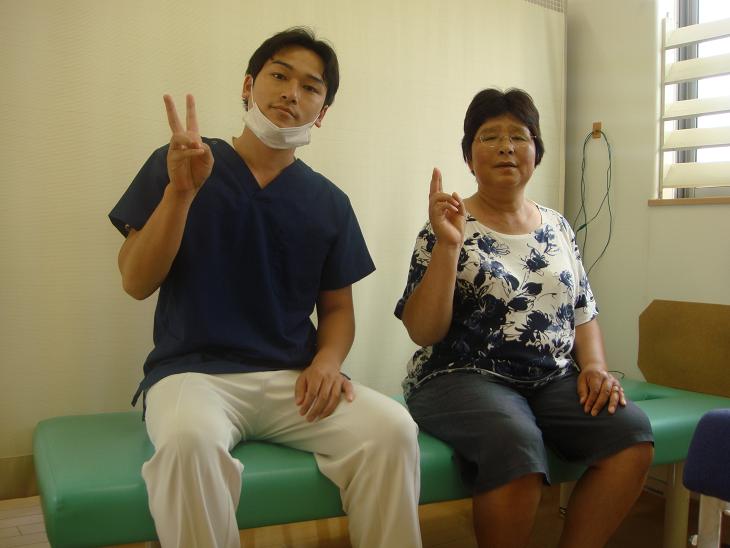坂井市春江町ひまわり整骨院で腰痛施術を受けた患者様の写真