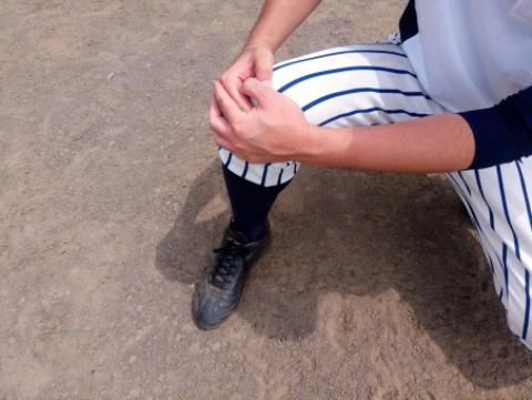 野球をしていて膝が痛い-オスグッド病