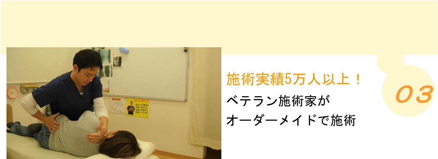 施術実績5万人以上!ベテラン施術家がオーダーメイドで施術-坂井市春江町ひまわり整骨院