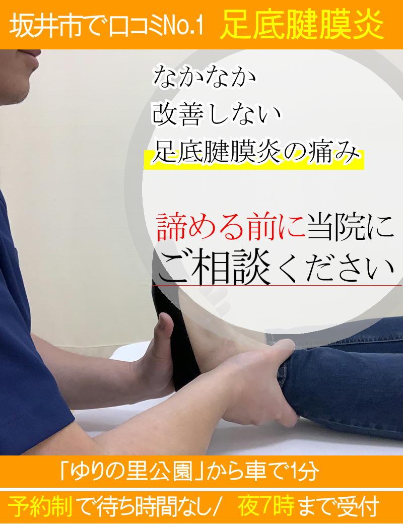 足底腱膜炎の改善-坂井市春江町ひまわり整骨院
