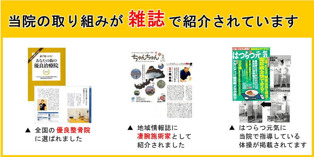 地域情報誌に凄腕治療院として紹介されました-坂井市春江町のひまわり整骨院